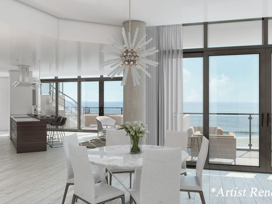 Rendering of the interior of South Beach at Long Branch,
