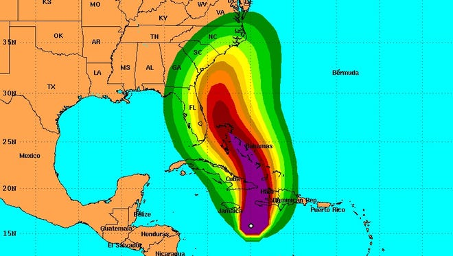 Tropical Storm Force Wind Speed probabilities