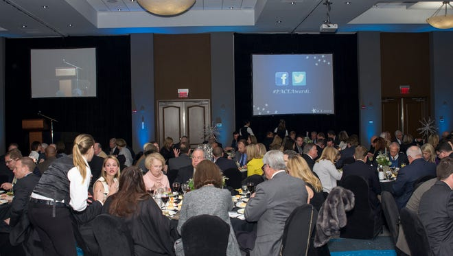 People attend the Greater Pensacola Chamber's Pensacola Area Commitment to Excellence, or PACE, awards dinner in 2016.