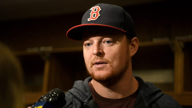 New Jersey Devils goalie Cory Schneider speaks with the press on the day designate for players to clean out their lockers at the Prudential Center in Newark on Tuesday, April 24, 2018.