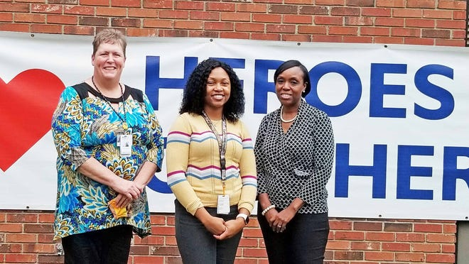 Kathy Hawken, Ashley Frank and Jackie Brooks are school-based mental health counselors serving Barnwell County's three public school districts.