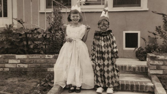 Diane and Randy on Halloween in 1953.