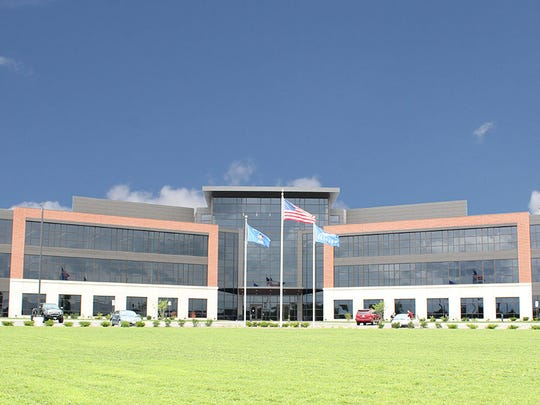 Custom Glass Products of Weston fabricated glass for the Skyward building off Interstate 39 in Plover.