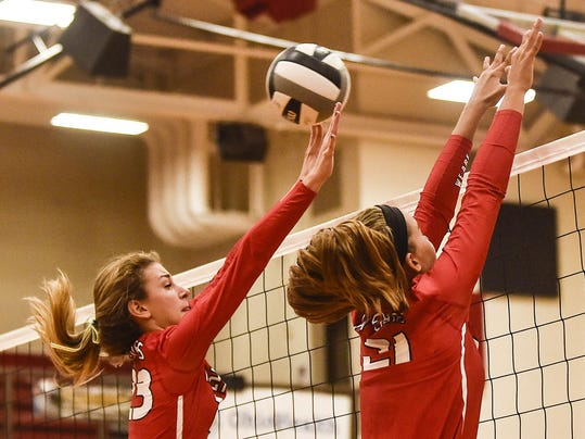 Harding volleyball Whitney Starner Abbi Jackson