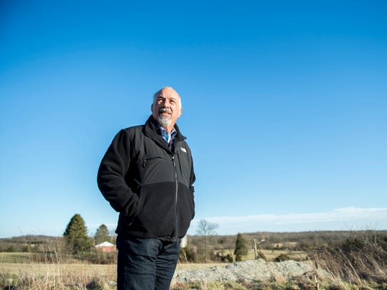 Local businessman David LeVan surveys the land where