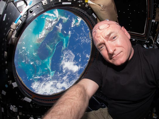 In this July 12, 2015 photo, Astronaut Scott Kelly