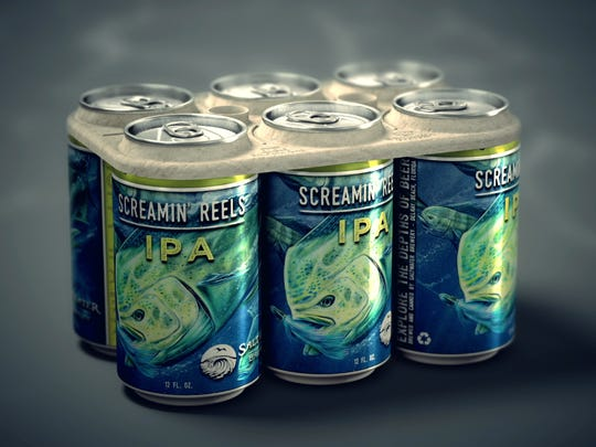Saltwater Brewery makes edible eco-friendly six-pack