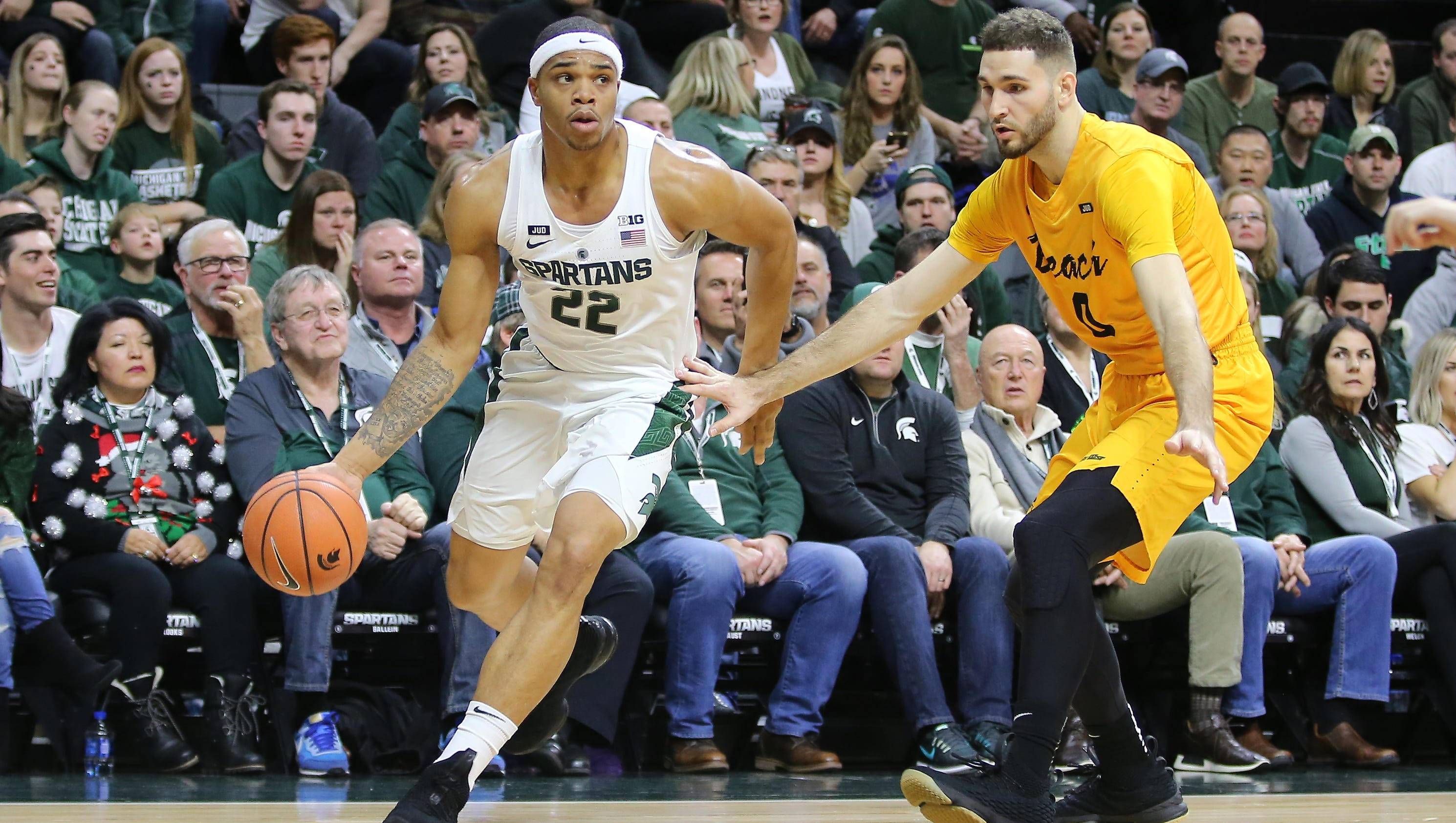 e7c7c38477c EAST LANSING — Miles Bridges has been working himself back to 100 percent  since his left ankle sprain on Nov. 19 against Stony Brook.