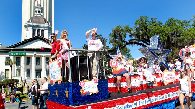 The Annual Springtime Tallahassee Grand Parade will draw more than 100 floats, marching bands and other entries, whose fees help fund Springtime Tallahassee Inc.