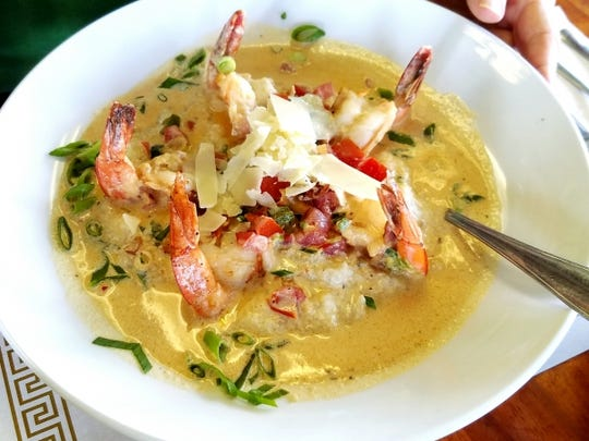Mary's Gourmet Kitchen's shrimp and grits is served
