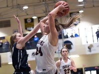 Drew Gordon (24) and the Southern Fulton girls basketball team will take on Halifax, the District 3-1A runner-up in the first round of the PIAA tournament on Saturday.