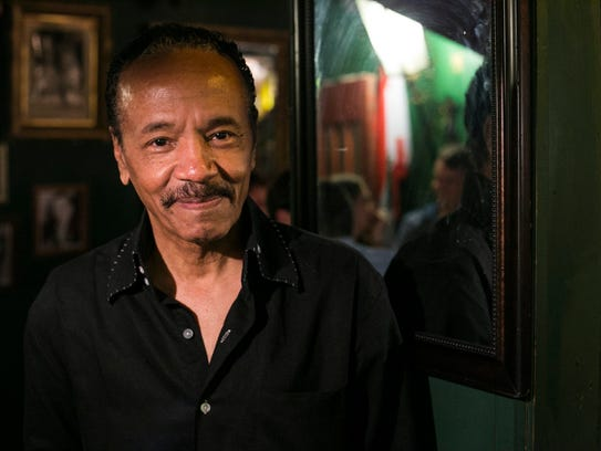 Larry Mongo, 67, at his bar Cafe d'Mongo's on Friday,