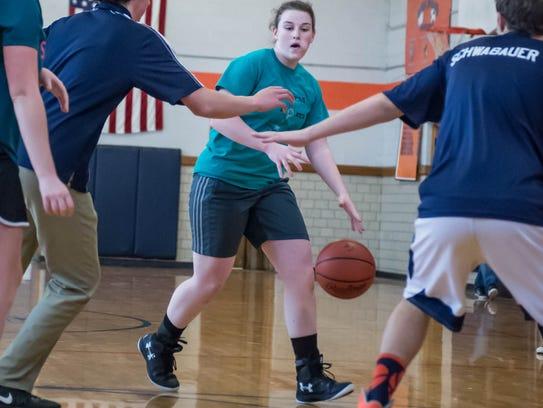 Calhoun Christian sophomore Abby Parks during a recent
