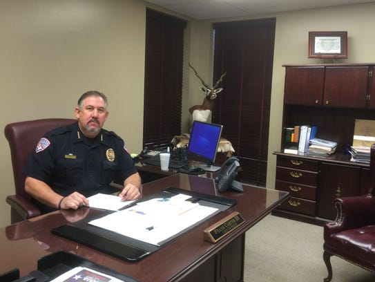 San Angelo Police Chief Frank Carter in his office