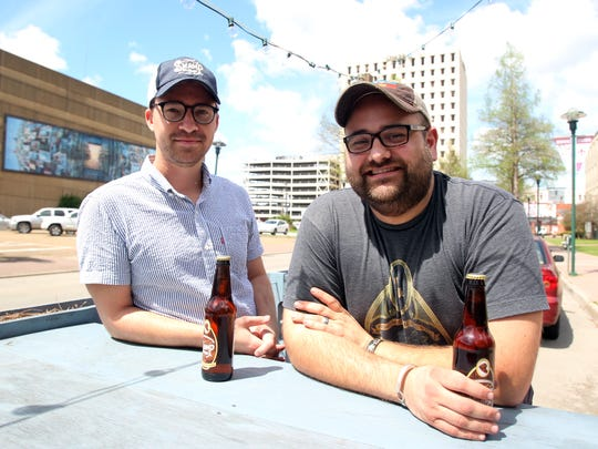 John Petersen, left, and Collin Cormier, co-owners of Swamp Pop, are pictured Monday, March 30, 2015, in downtown Lafayette, La.