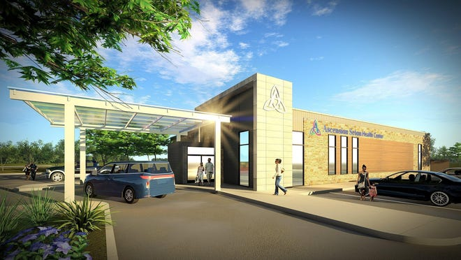A rendering of Elgin's future health care clinic.