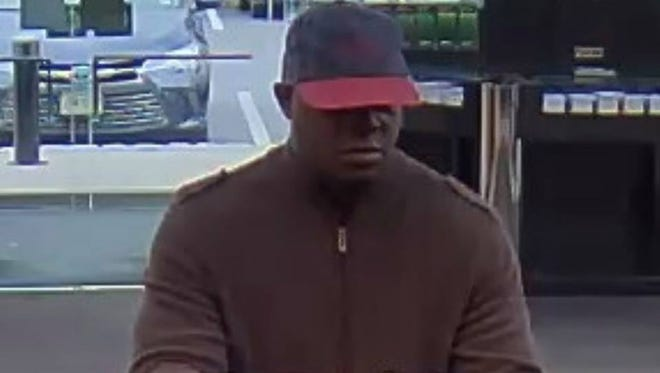 Police have released a picture of the suspect wanted in connection with Sunday's robbery at a TD Bank in Franklin.
