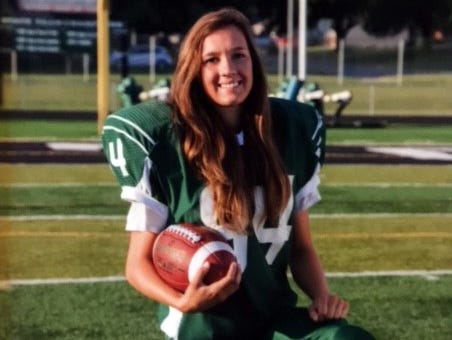 Senior Vanessa Chapman of Pella High School may be just the second girl to play on a state champion football team in Iowa.