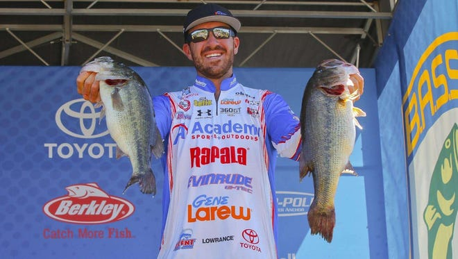 Indiana pro Jacob Wheeler leads the Bassmaster Elite Series event on Toledo Bend after the first-day weigh-in.