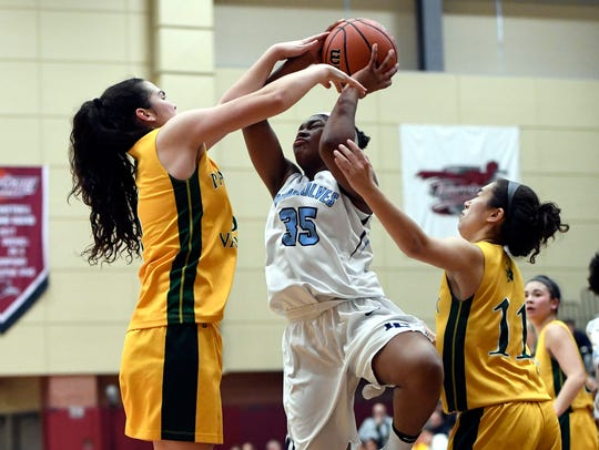 Immaculate Conception guard Jariah Patterson (35) had 13 points, seven rebounds and five assists in a 44-38 win over Ramapo in the Bergen County girls basketball championship Round of 16. (File photo)