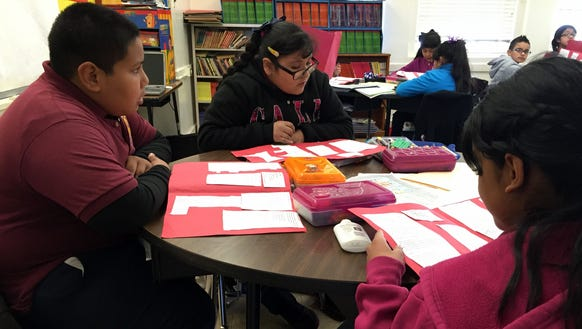 Zavala Elementary School fifth-grade students sing