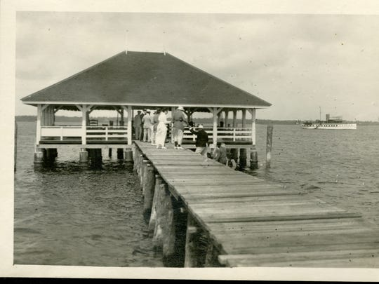 The pavilion at the end of the pier at the Edison estate in Fort Myers will be recreated on land.