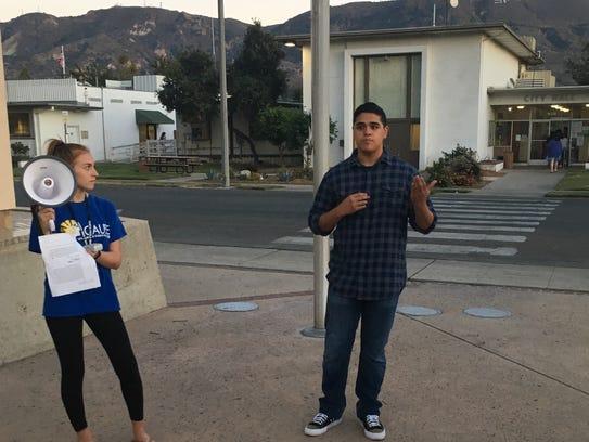 Isaiah Ruiz, 18, a senior at Santa Paula High, participates