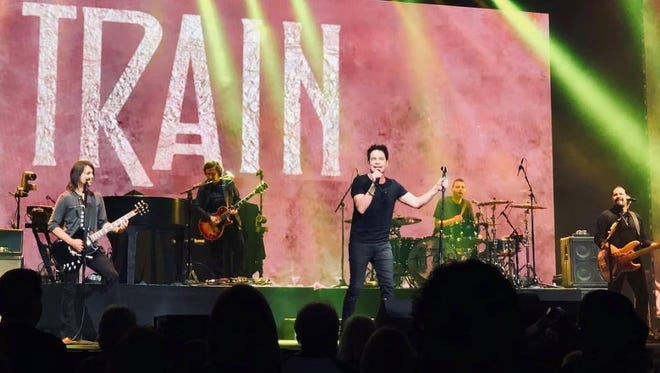 Lead singer Patrick Monahan brings the hits with Train.