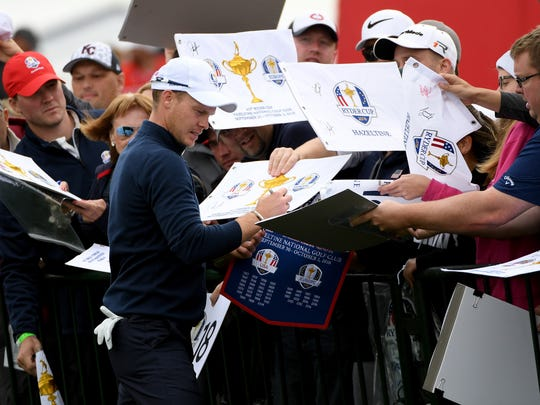 Danny Willett signed autographs for fans Tuesday, but