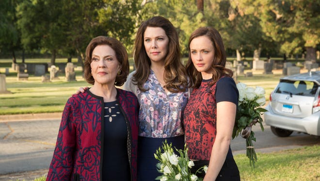 Kelly Bishop, left, Lauren Graham and Alexis Bledel play three generations of Gilmore women on Netflix's 'Gilmore Girls: A Year in the Life.'