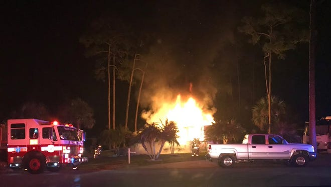 RV fire reported at Great Outdoors RV Resort in Titusville on Wednesday, March 15, 2018.