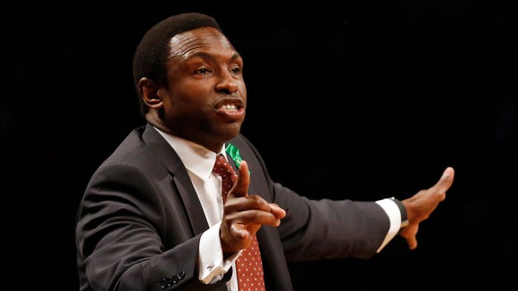 FILE - Former Brooklyn Nets coach Avery Johnson, now an analyst for ESPN, says he likes this year's Pacers.