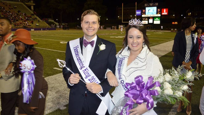 Matthew Whitaker of Winnfield and Brittany McConathy of Alexandria were selected as queen and king of the 2015 Homecoming Honor Court at Northwestern State University on Oct. 18.