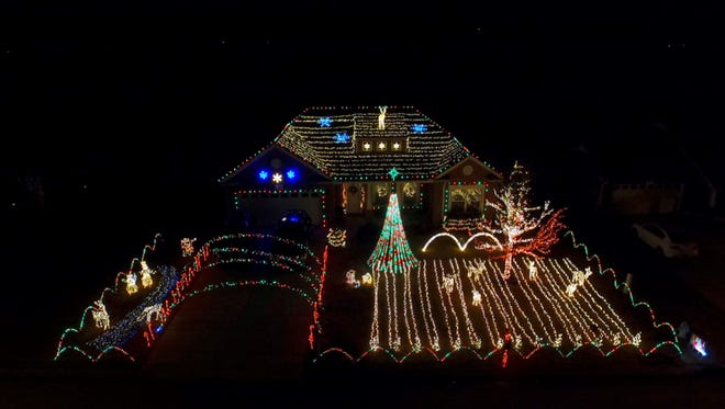 """""""Lights on Sparrow Street,"""" at 2038 Sparrow St. in Spring Hill, runs 4:30-10 p.m. nightly through Dec. 31."""