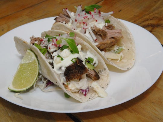 A braised pork taco from DIVE! Coastal Bar & Food Joint in Sea Bright.