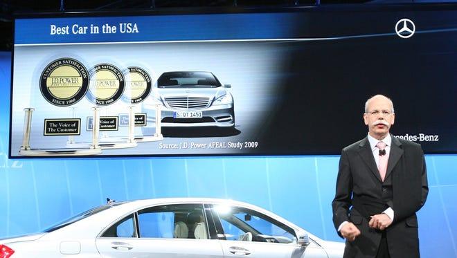 An automobile company touts its J.D. Power awards.
