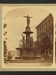 The Miriam and Ira D. Wallach Division of Art, Prints and Photographs: Tyler Davidson Fountain in Cincinnati, undated.