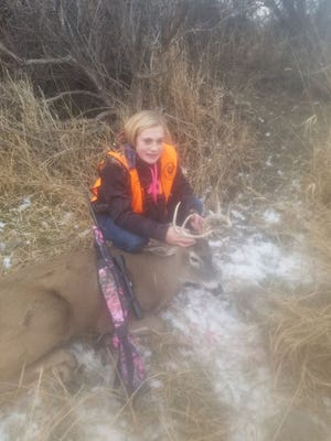 Alexis Morris from Sun River got this deer on her family ranch.
