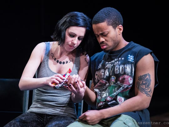 """April Paul and Marques Causey portray a couple with challenges in Renaissance Theaterworks' """"Luna Gale."""""""