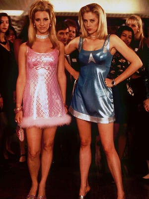 "Lisa Kudrow (left) and Mira Sorvino star in ""Romy and Michele's High School Reunion."""