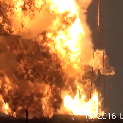 SpaceX's Falcon 9 rocket explodes on the pad at Cape