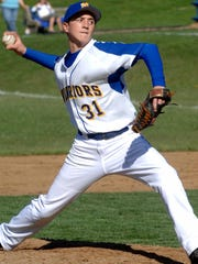 Mariemont starting pitcher Eric Nerl throws a pitch