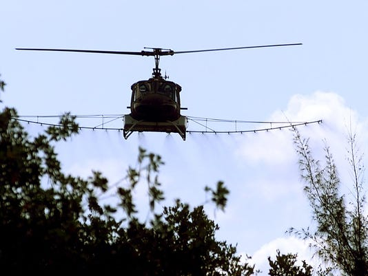 Mosquito Control helicopter