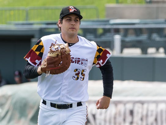 Shorebirds' Ryan Ripken (35) during a game against