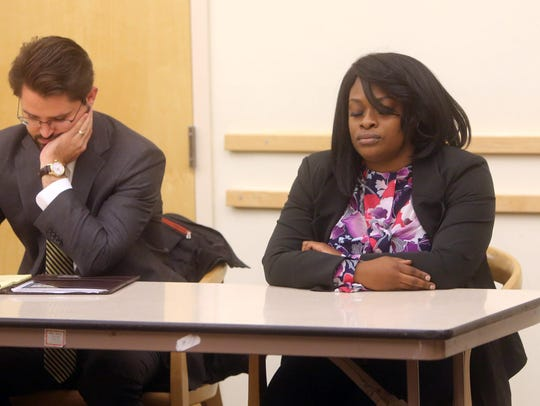 Jermika Depas has been sentenced to five years probation and ordered to repay $4,600 for welfare fraud conviction. She's pictured here during a separate case when a judge acquitted her of charges she helped a former Spring Valley Trustee Vilair Fonvil steal $11,000 from a village summer camp program she ran.
