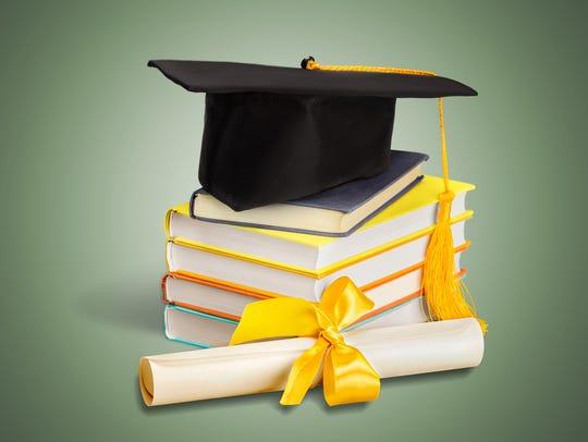 Graduation Mortar Board Diploma Book Learning Cap Certificate,