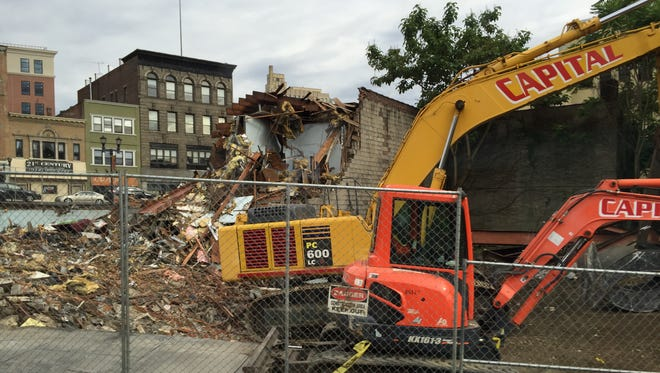 Demolition at 25 Warburton Ave. in Yonkers.