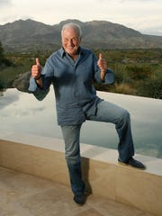 Jerry Weintraub, seen here at his Palm Desert home on March 2, 2011, died Monday. The famed producer was 77.