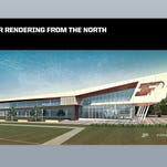 Artist renderings show what the improved Purdue Football Performance Complex is expected to look like.