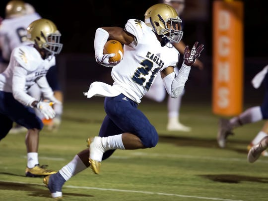 Independence running back Troy Henderson ran for a career-high five touchdowns on Thursday.